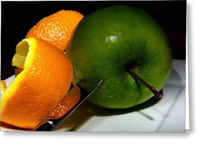 Orange Greeting Cards - Morning Snack 2 Greeting Card by Cecil Fuselier