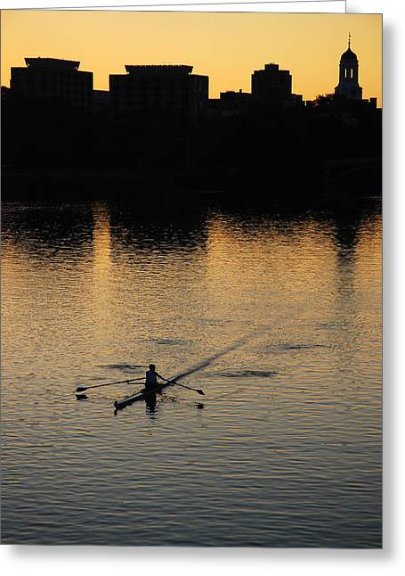 Northeastern University Greeting Cards - Morning Solitude Greeting Card by James Kirkikis