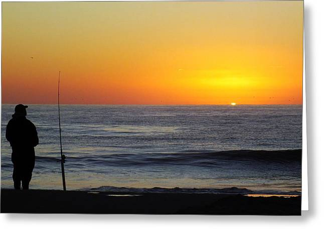 Sea With Waves Greeting Cards - Morning Solitude Greeting Card by Karen Wiles