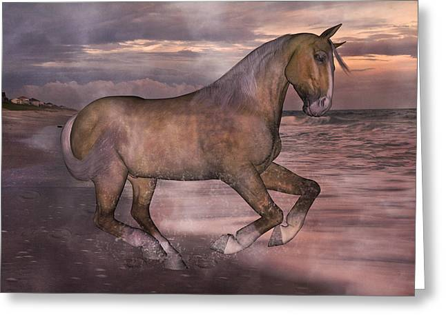 Peaceful Scene Mixed Media Greeting Cards - Morning Spirit Greeting Card by Betsy C  Knapp