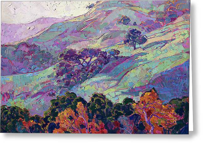 Paso Robles Greeting Cards - Morning Splendor  Greeting Card by Erin Hanson