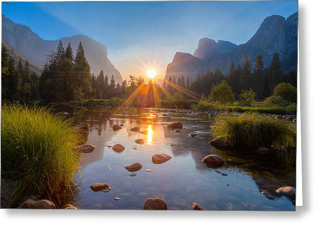 Cathedral Rock Greeting Cards - Morning Star Greeting Card by Mike Lee