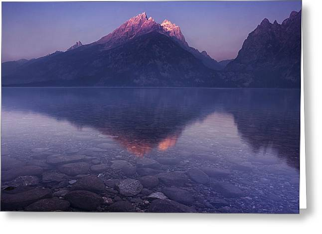 Pond Grand Tetons Greeting Cards - Morning Stillness Greeting Card by Andrew Soundarajan