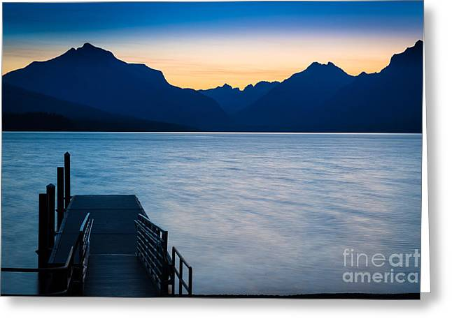 Lake Mcdonald Greeting Cards - Morning Stillness Greeting Card by Inge Johnsson