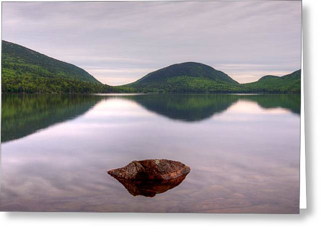 Eagle In Clouds Greeting Cards - Morning Stillness On Eagle Lake, Acadia Greeting Card by Panoramic Images