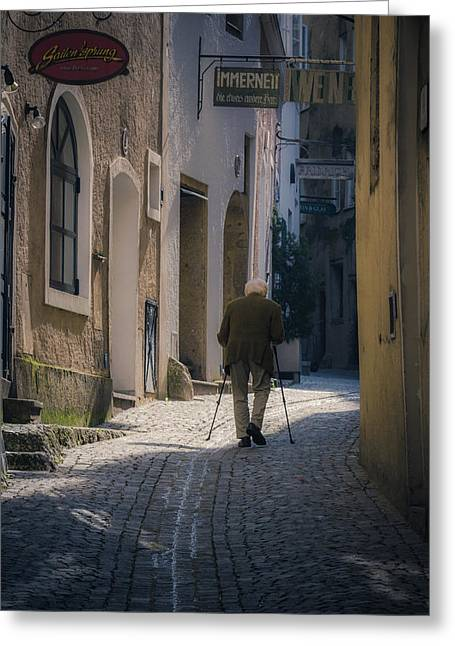 Passageways Greeting Cards - Morning stroll Greeting Card by Chris Fletcher