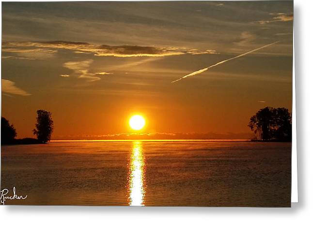 Reflection Of Sun In Clouds Greeting Cards - Morning Sun Greeting Card by Michael Rucker