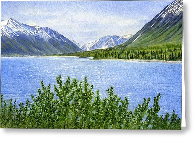 Morning Sun on Kenai Lake Greeting Card by Sharon Freeman