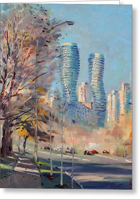 Morning Sunlight In Mississauga Greeting Card by Ylli Haruni