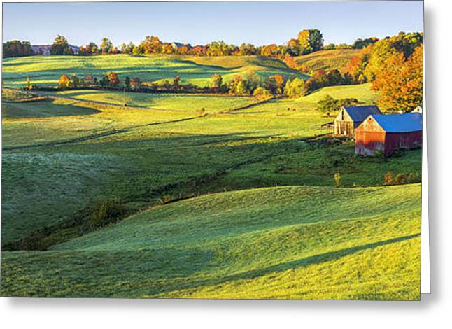 Tin Roof Greeting Cards - Morning Sunlight on the Farm Greeting Card by Kyle Wasielewski