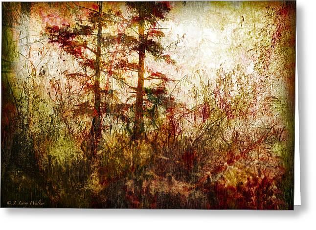 Cypress Knees Digital Art Greeting Cards - Morning Sunrise Burst Of Color Greeting Card by J Larry Walker