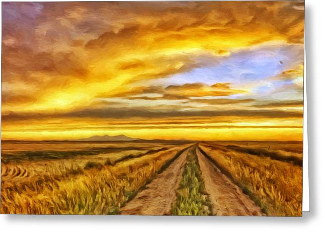 Morning Sunrise Greeting Card by Michael Pickett