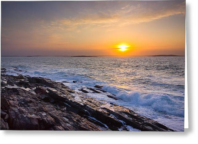 Harpswell Greeting Cards - Morning Surf Greeting Card by Benjamin Williamson