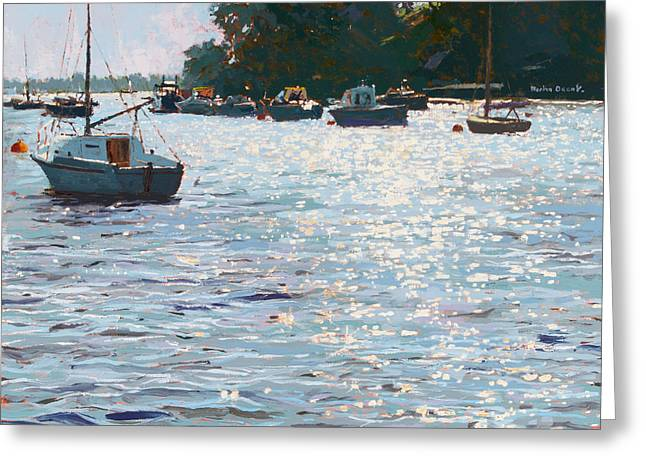 Natural Beauty Paintings Greeting Cards - Morning Tide Greeting Card by Martin Decent