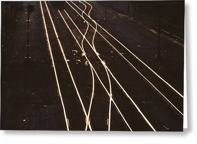 Train Track Greeting Cards - Morning Train Greeting Card by Don Spenner