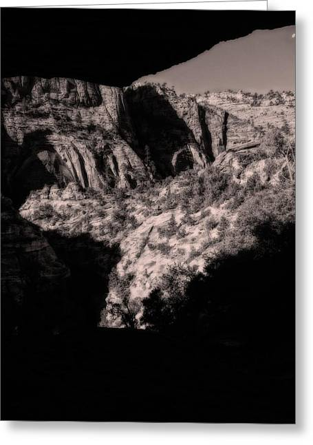 Cliff Dwellers Greeting Cards - Morning View In Zion Greeting Card by Dan Sproul