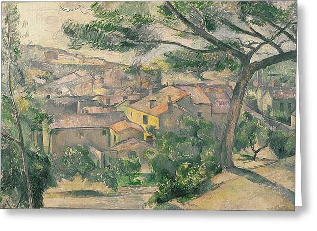 Against The Sunlight Greeting Cards - Morning View of L Estaque Against the Sunlight Greeting Card by Paul Cezanne