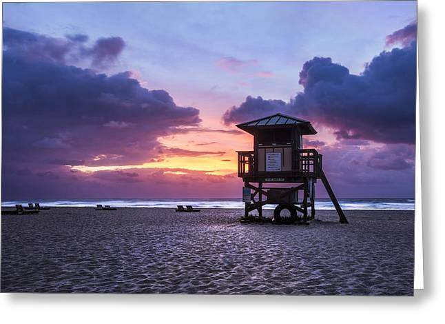Lounge Photographs Greeting Cards - Morning Watch Greeting Card by Debra and Dave Vanderlaan