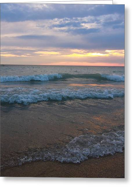 Family Vacation Greeting Cards - Morning Waves Greeting Card by Dan Sproul