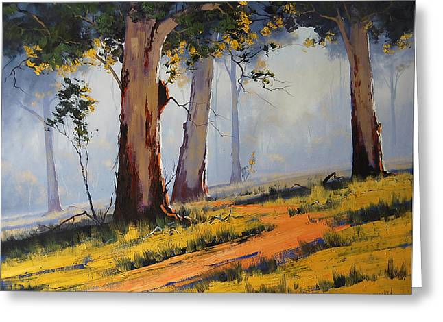 Australian Tree Greeting Cards - Morning Woodland Greeting Card by Graham Gercken