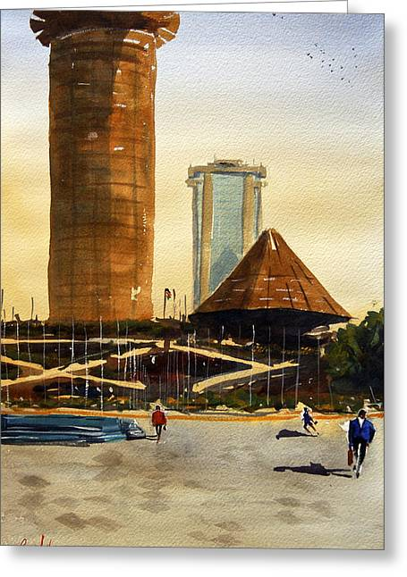 Spectacular Paintings Greeting Cards - Morning Workhours in Nairobi Greeting Card by James Nyika