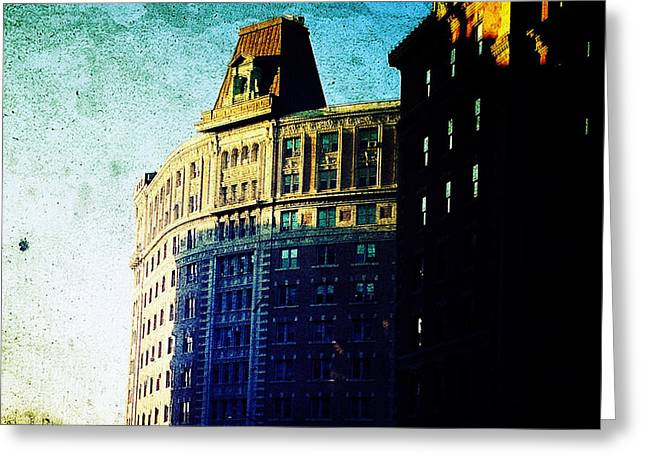 Morningside Heights Blue Greeting Card by Natasha Marco