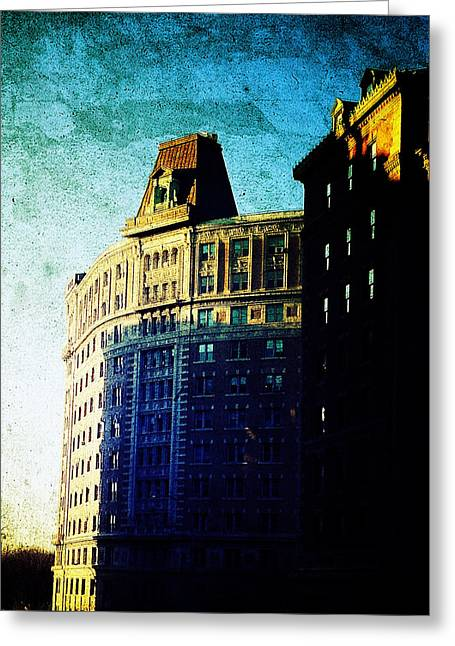 Morningside Heights Greeting Cards - Morningside Heights Blue Greeting Card by Natasha Marco