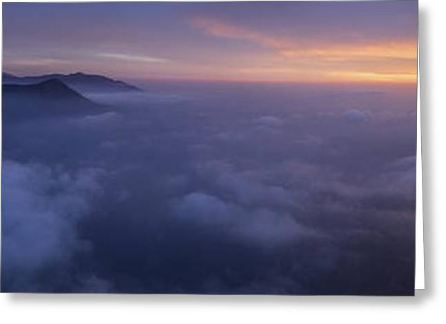 Moonrise Greeting Cards - Moro Rock Sunset Greeting Card by Darin McQuoid