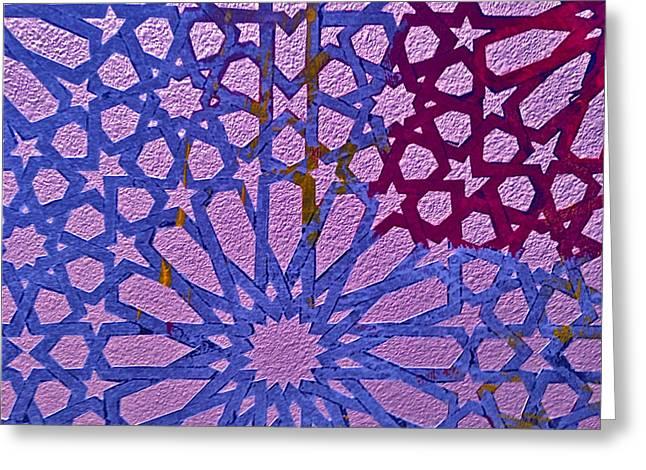 Moroccan Design  Greeting Card by Karim Baziou