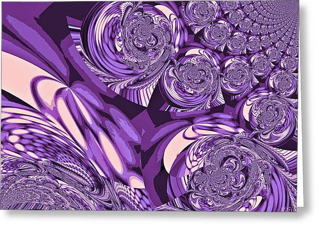 Grapes Art Deco Digital Art Greeting Cards - Moroccan Lights - Purple Greeting Card by Absinthe Art By Michelle LeAnn Scott