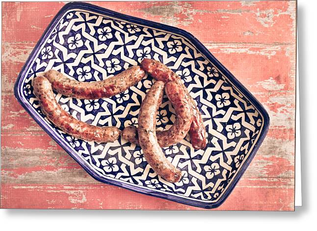 Spice Greeting Cards - Moroccan sausages Greeting Card by Tom Gowanlock