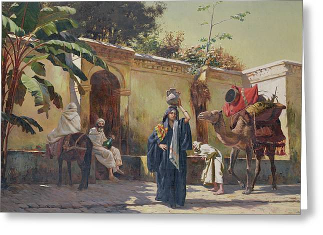 Spring Scenes Greeting Cards - Moroccan Scene Greeting Card by Rudolphe Ernst