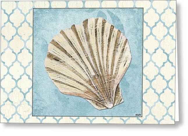 Shell Pattern Greeting Cards - Moroccan Spa 1 Greeting Card by Debbie DeWitt