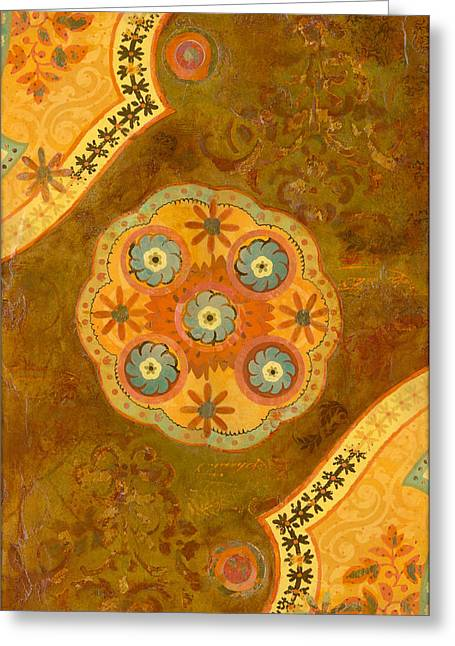 Italian Sunset Mixed Media Greeting Cards - Moroccan Sunset Greeting Card by Gypsy McKinna