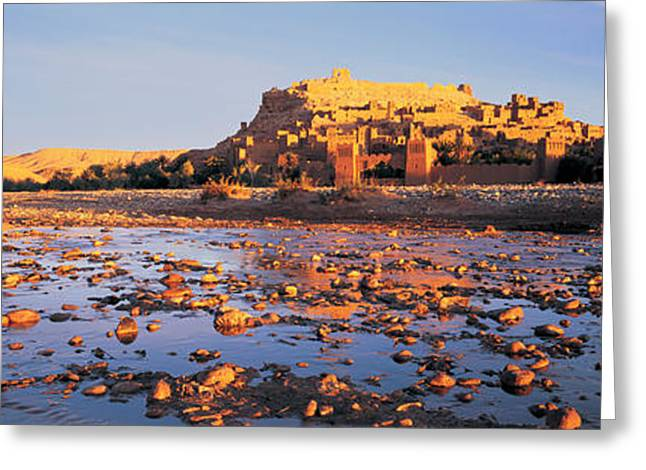 Diminishing Greeting Cards - Morocco, Ait Benhaddou Greeting Card by Panoramic Images