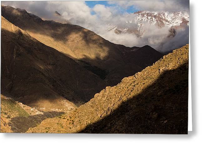 Rock Slope Greeting Cards - Morocco Atlas mountains Greeting Card by Ruben Vicente