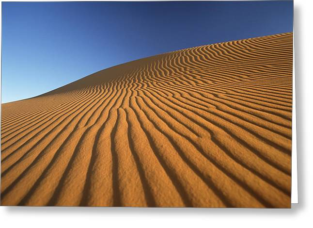 Simple Beauty In Colors Greeting Cards - Morocco, Detail Of Sand Dune At Dawn Greeting Card by Ian Cumming