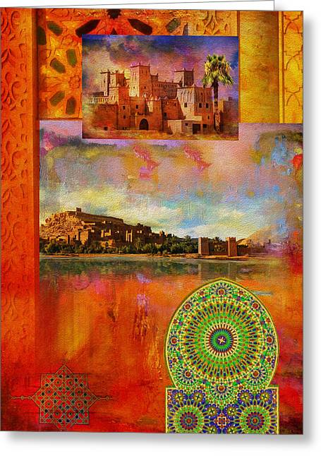 Morocco Heritage Poster Greeting Card by Catf
