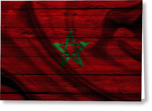 Flag Pole Greeting Cards - Morocco Greeting Card by Joe Hamilton