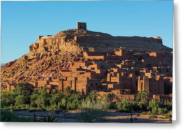 Morocco Kasbah Ait Benhaddon Largest Greeting Card by Bill Bachmann