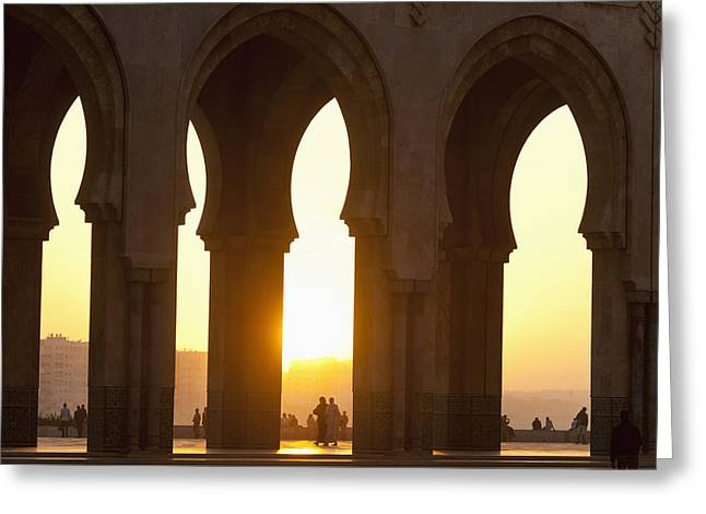 Moroccan Courtyard Greeting Cards - Morocco, Looking Through Arches Greeting Card by Ian Cumming