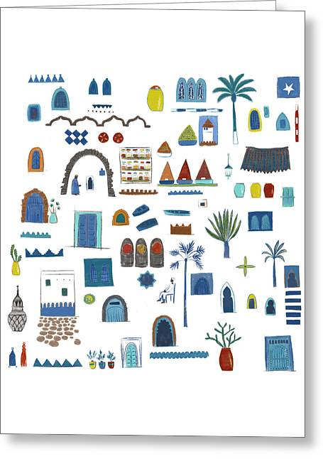 Morocco Sketch Greeting Card by Nic Squirrell