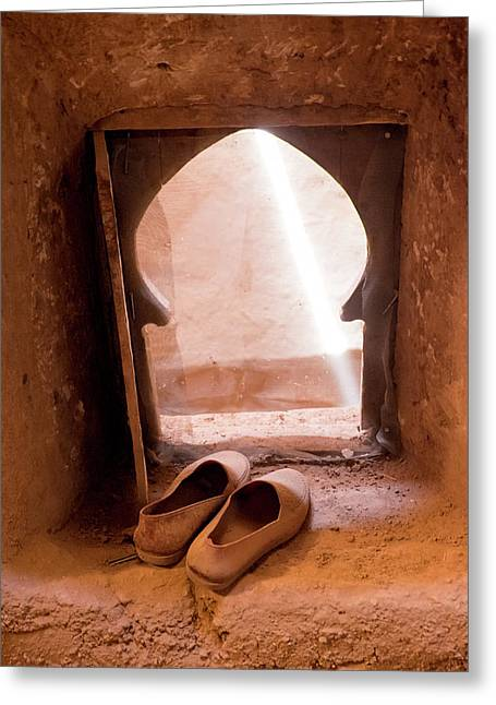 Morocco, Tamnougalt Kasbah In The Draa Greeting Card by Emily Wilson