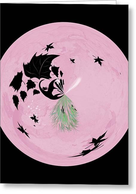Morphed Greeting Cards - Morphed Art Globe 10 Greeting Card by Rhonda Barrett