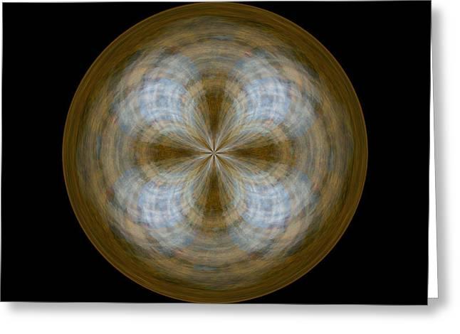 Morphed Art Globe 24 Greeting Card by Rhonda Barrett