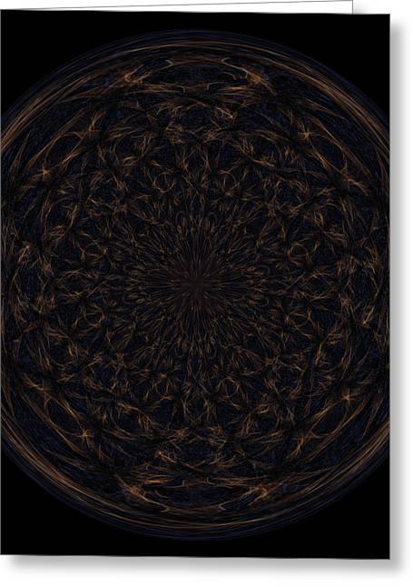 Morphed Greeting Cards - Morphed Art Globe 31 Greeting Card by Rhonda Barrett