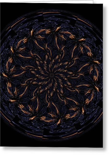 Morphed Greeting Cards - Morphed Art Globes 14 Greeting Card by Rhonda Barrett