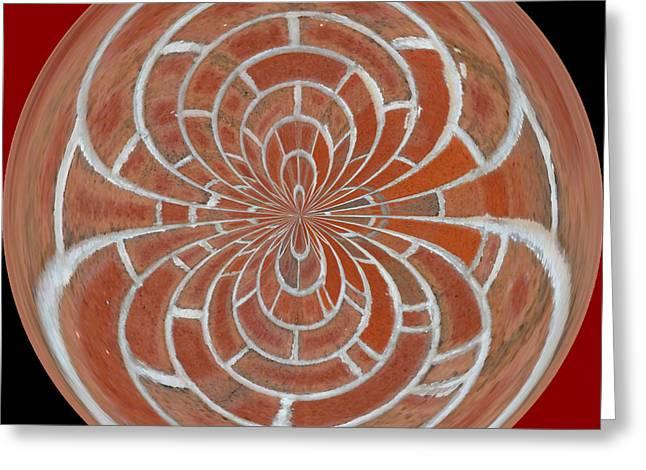 Morphed Greeting Cards - Morphed Art Globes 17 Greeting Card by Rhonda Barrett