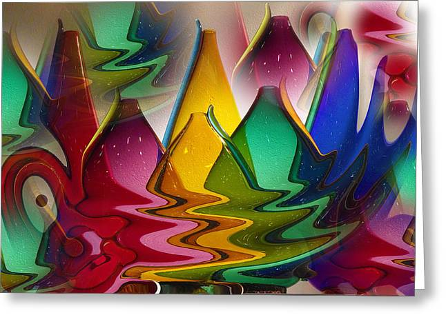 Morphed Glass Greeting Card by Jill Brooks