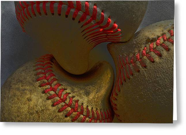 Morphing Greeting Cards - Morphing Baseballs Greeting Card by Bill Owen